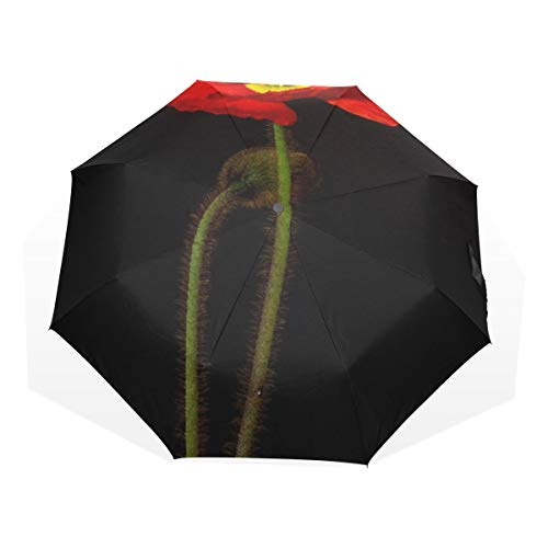 Womens Travel Umbrella Poppy Blossom Bloom Macro Iceland Poppy Windproof Easy Fold Umbrella Rain & Wind Resistant Compact and Lightweight For Business and Travels de JOCHUAN
