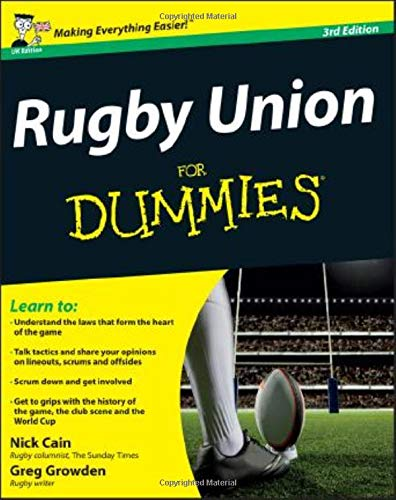 Rugby Union For Dummies de John Wiley & Sons Inc