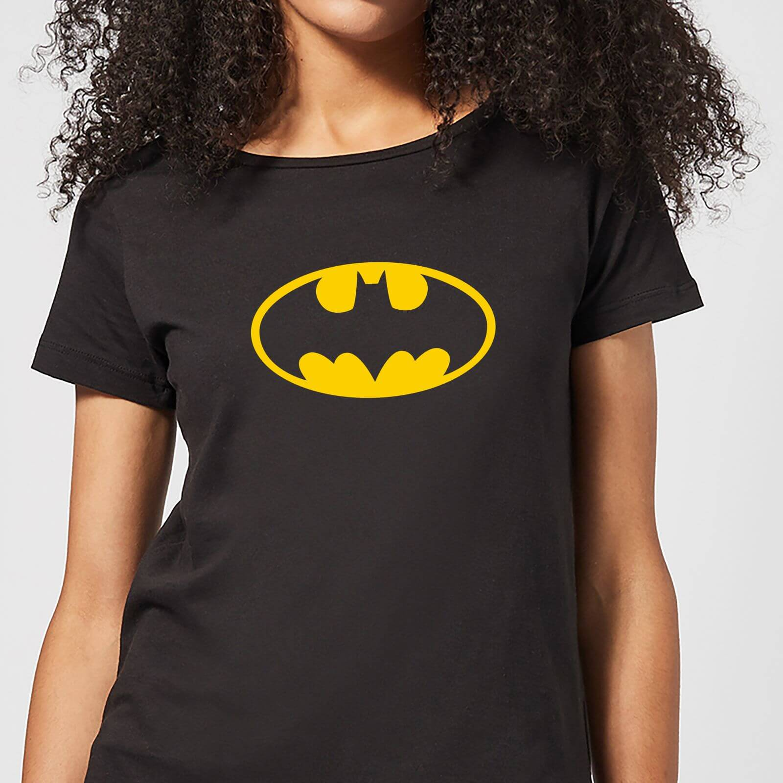 Justice League Batman Logo Women's T-Shirt - Black - M - Negro de DC Comics