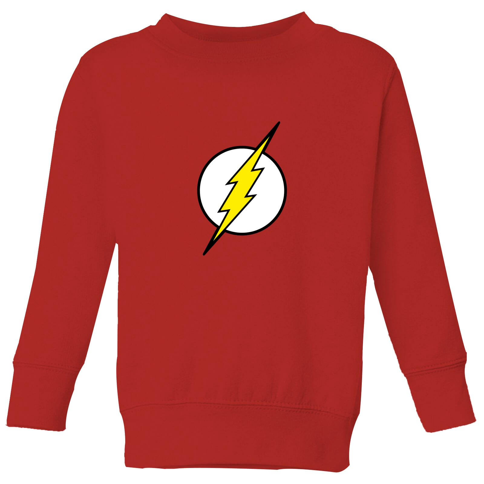 Justice League Flash Logo Kids' Sweatshirt - Red - 7-8 años - Rojo de DC Comics