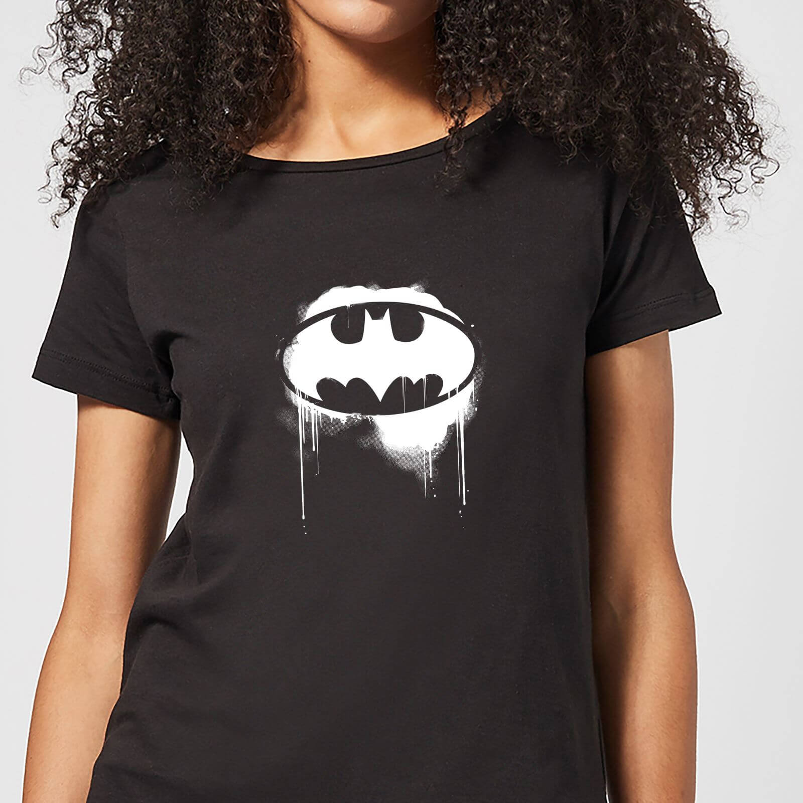 Justice League Graffiti Batman Women's T-Shirt - Black - XL - Negro de DC Comics