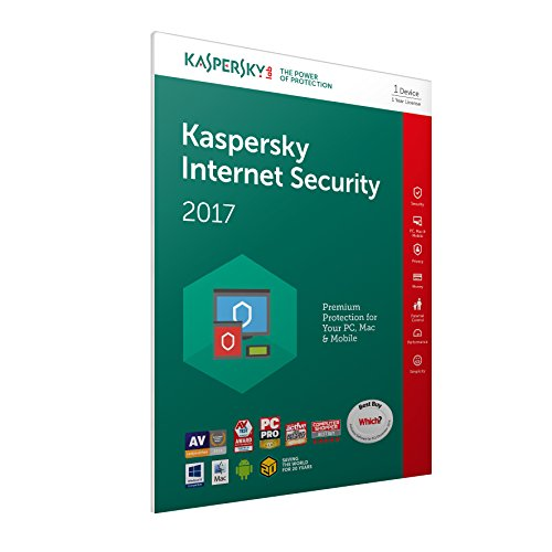 Kaspersky Lab Internet Security 2017 Base license 1usuario(s) 1año(s) Inglés - Seguridad y antivirus (1, 1 año(s), Base license, Soporte físico) de Kaspersky Lab
