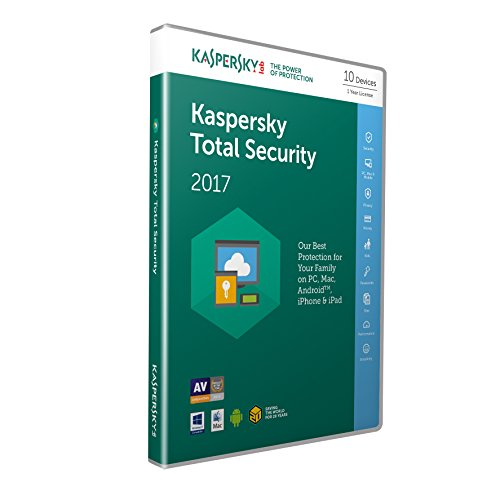 Kaspersky Lab Total Security 2017 Base license 10usuario(s) 1año(s) Inglés - Seguridad y antivirus (10, 1 año(s), Base license, Soporte físico) de Kaspersky Lab