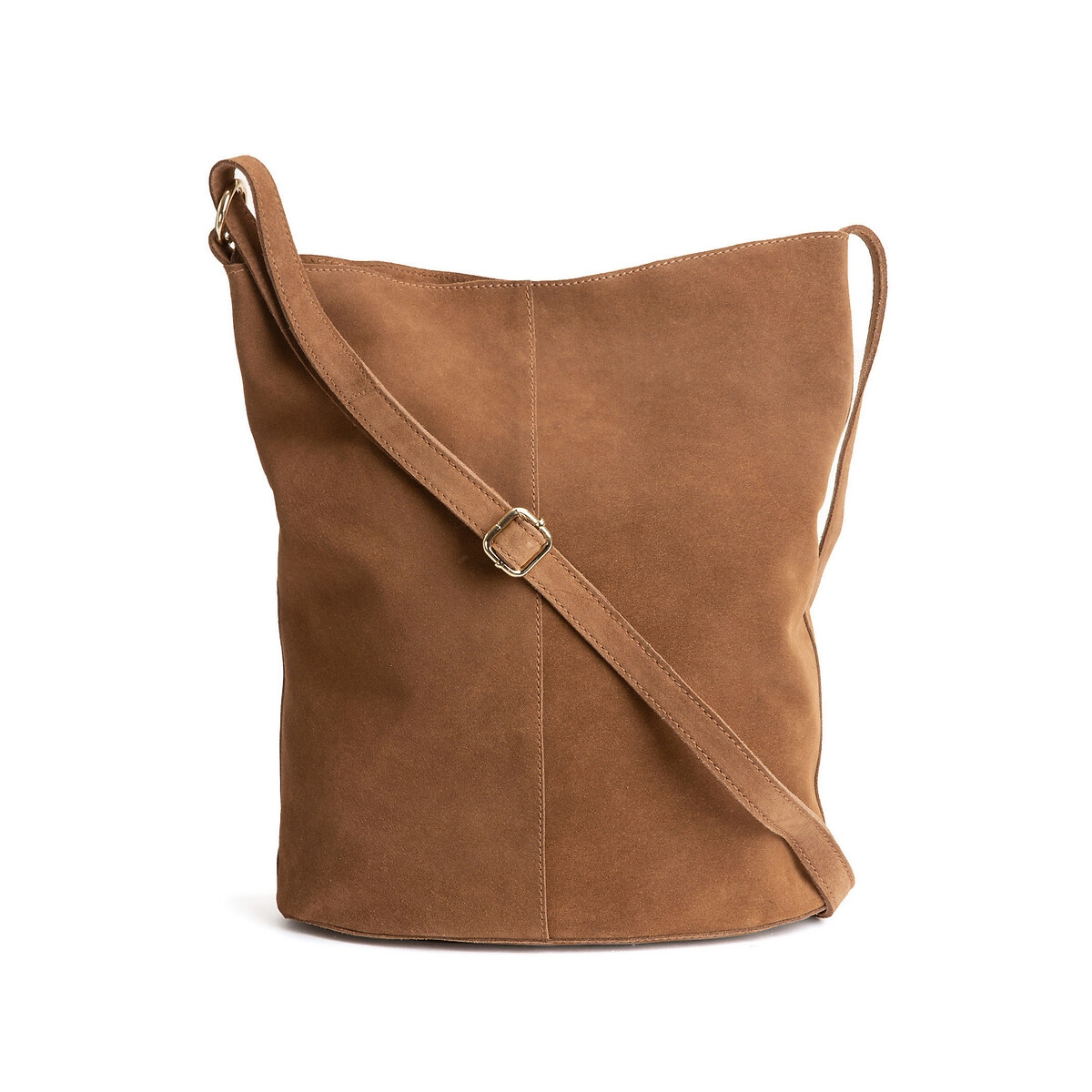 Bolso hobo de piel de LA REDOUTE COLLECTIONS