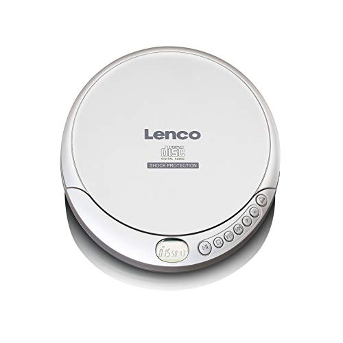 Lenco CD de 201SI Lenco CD de 201SI Reproductor de CD/MP3 Player it Anti Schock y función de Carga Color Blanco de Lenco