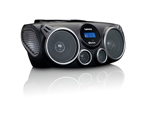 Lenco Scd de 100 – Radio Portátil con CD, MP3, Bluetooth, USB y SD, Mando a Distancia Negro de Lenco