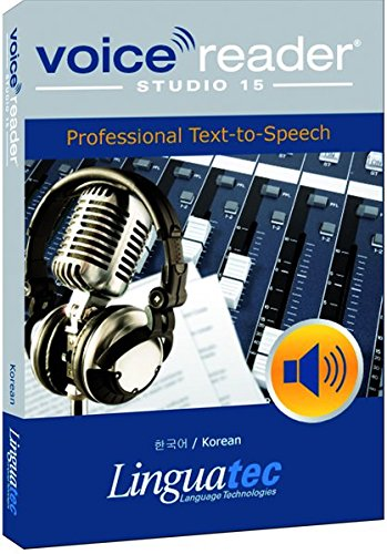 Voice Reader Studio 15 Coreano /한국어/ Korean – Professional Text-to-Speech - Programa para convertir texto a voz (TTS) para Windows PC de Linguatec