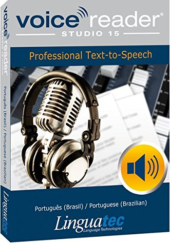 Voice Reader Studio 15 Portugués brasileño / Português (Brasil) / Portuguese (Brazilian) – Professional Text-to-Speech - Programa para convertir texto a voz (TTS) para Windows PC de Linguatec
