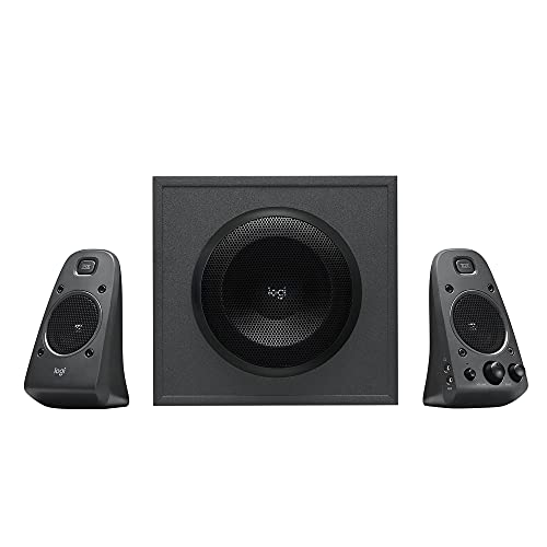 Logitech Z625 Sistema de Altavoces 2.1 Subwoofer, THX, 400W de Pico, Graves Profundos, Entrada Óptica 3.5 mm/RCA, Enchufe EU, PC/PS4/Xbox/Reproductor/DVD Player/TV/Smartphone/Tablet, Negro de Logitech