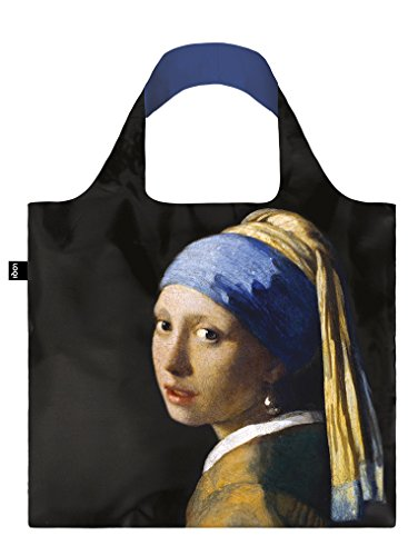 JOHANNES VERMEER Girl with a Pearl Earring Bag: Gewicht 55 g, Größe 50 x 42 cm, Zip-Etui 11 x 11.5 cm, handle 27 cm, water resistant, made of polyester, OEKO-TEX certified, can carry up to 20 kg de Loqi