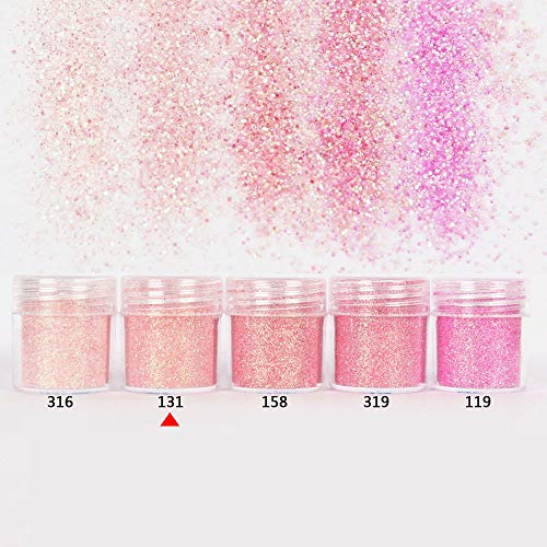 MEIYY Decoración de uñas 10 Ml Oro Plata Nail Glitter Powder Sequins Rose Red Mixed Nail Sparkles Glitter Dust Powder Nail Art Decoraciones Nail Art Set de MEIYY