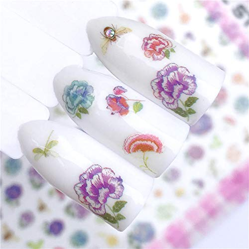 MEIYY Pegatina De Uñas Estilos Nail Art Sticker Christmas Series   Flower   Animal Designs Nail Art Transfer Stickers 3D Design de MEIYY