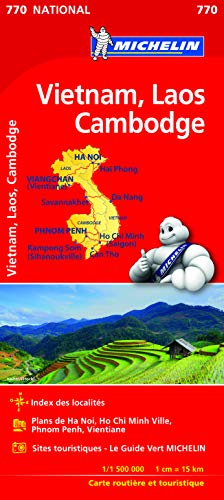Mapa National VIETNAM, LAOS, CAMBODGE (Mapas National Michelin) de MICHELIN ESPAÑA PORTUGAL S.A.