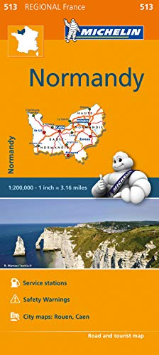 Mapa Regional Normandy (Carte regionali) de MICHELIN