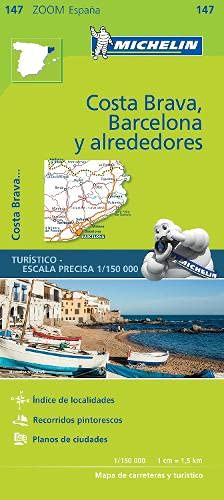 Michelin ZOOM MAP: Costa Brava, Barcelona y alrededores (Mapas Zoom Michelin) de MICHELIN