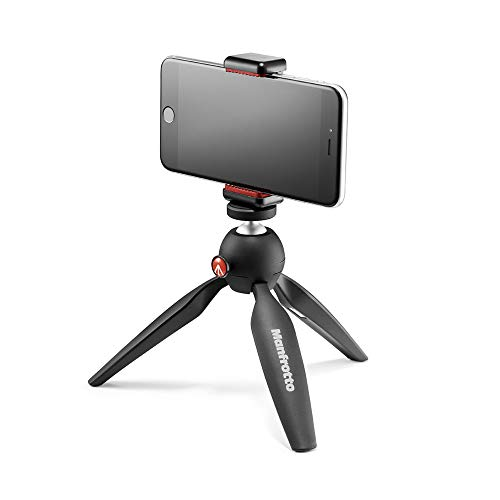 Manfrotto Pixi Smart - Mini trípode para smartphone, negro de Manfrotto