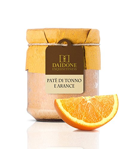 "Daidone - Handmade Sicilian Tuna and Orange Pâté - 12 Jars of 200g de Mercato Italiano ""Italian Specialties"""