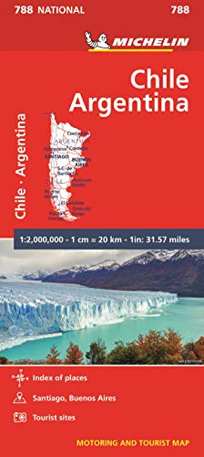 Chile Argentina - Michelin National Map 788 (Michelin National Maps) de Michelin Editions des Voyages