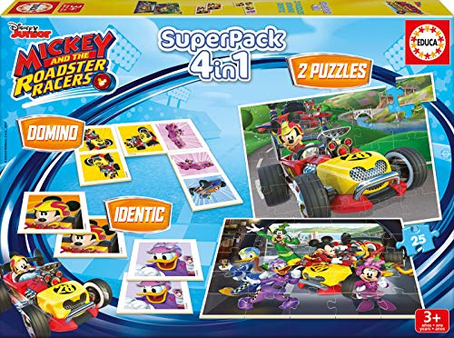 Mickey and the Roadstar Racers - Superpack, Juego de Mesa (Educa Borrás 17223) de Mickey and the Roadstar Racers