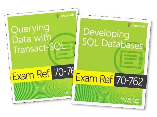 MCSA SQL Server 2016 Database Development Exam Ref 2-pack: Exam Refs 70-761 and 70-762 de Microsoft Press,U.S.