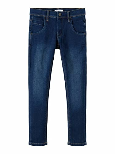 NAME IT Nittax Slim/XSL Dnm Pant Nmt Noos Jeans, Azul (Dark Blue Denim Dark Blue Denim), 122 para Niños de NAME IT