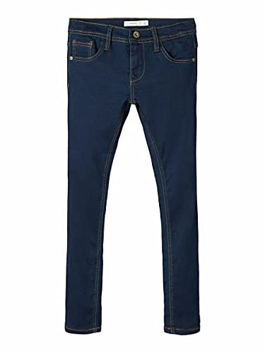 NAME IT Nkmrobin Dnmthayer 3157 Swe Pant Noos Jeans, Azul (Dark Blue Denim Dark Blue Denim), 125 (Talla del Fabricante: 110) para Niños de NAME IT