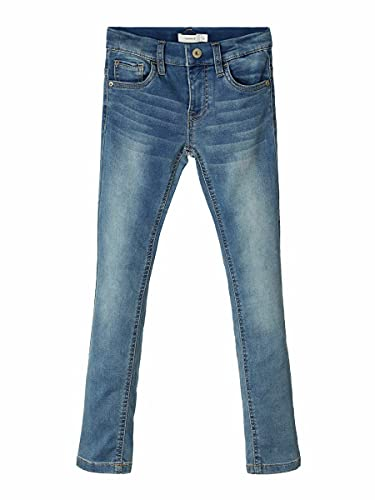 NAME IT Nkmtheo Dnmthayer 1166 Swe Pant Noos Jeans, Azul (Light Blue Denim Light Blue Denim), 125 (Talla del Fabricante: 110) para Niños de NAME IT