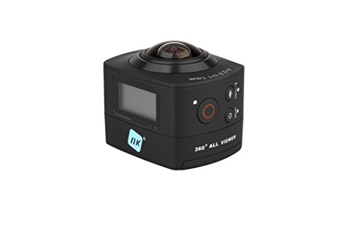 "NK AC3078-360 - Cámara de acción 360º, 8 MP con gran angular, Carcasa WaterProof incluida, WiFi, Full HD 1080p, LCD 2"", color negro de NK"