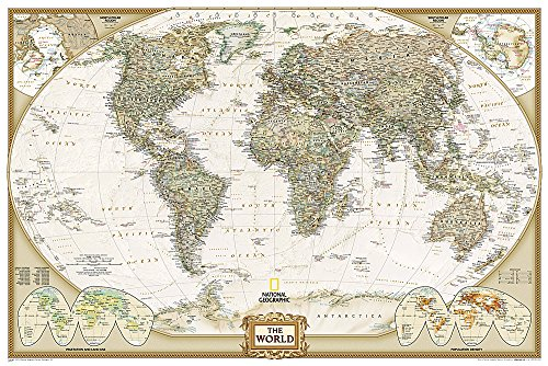 World Executive, Poster Size, Tubed: Wall Maps World (National Geographic Reference Map) de National Geographic Maps