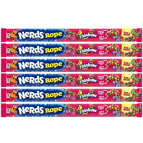 Wonka Rainbow Nerds Rope (pack of 6) de Nestle