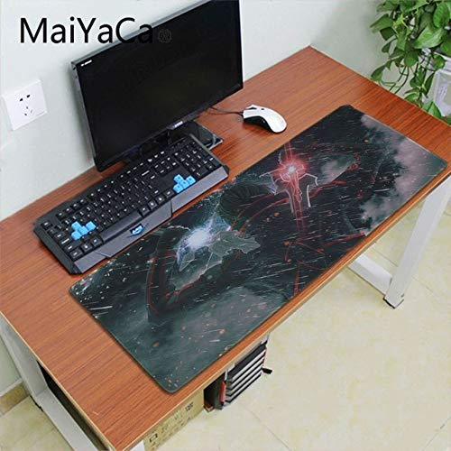 OLUYNG Alfombrilla de ratón Alfombrilla Maiyaca Anime   Online Art Sao Asuna Mouse Pad Gaming Mouse Pad Speed ​​XXL Keyboard Mouse Mat Laptop PC Table Pad   Lock Edge 30X70cm de OLUYNG