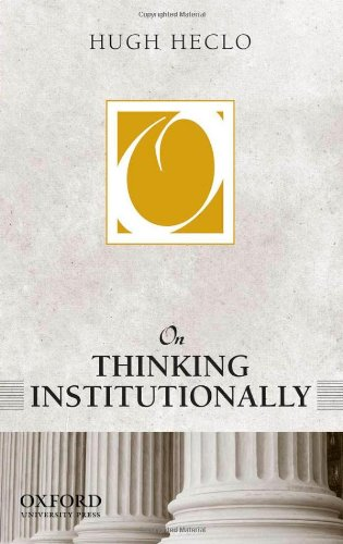 On Thinking Institutionally (On Politics) de OUP USA