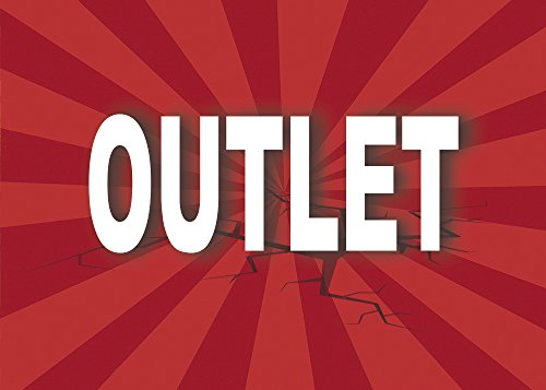 Cartel Outlet | Varias medidas 70 cm x 50 cm | Cartel publicitario Outlet | Cartel Oferta Outlet | Cartel oportunidad Outlet de Oedim