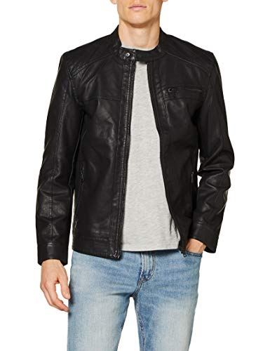 Only & Sons Onsal PU Noos Otw Chaqueta, Negro (Black), Large para Hombre de Only & Sons