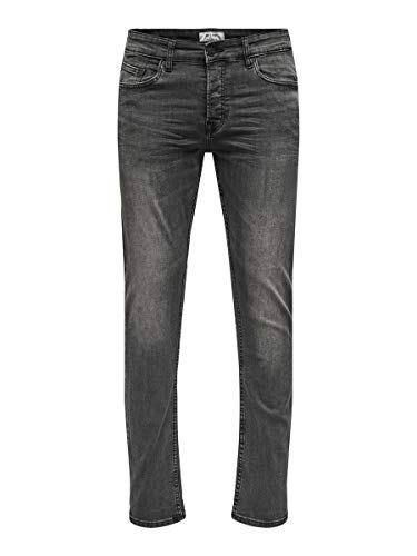 Only & Sons Onsloom Washed Dcc 0447 Noos Vaqueros Slim, Negro (Black Denim Black Denim), W36/L32 para Hombre de Only & Sons