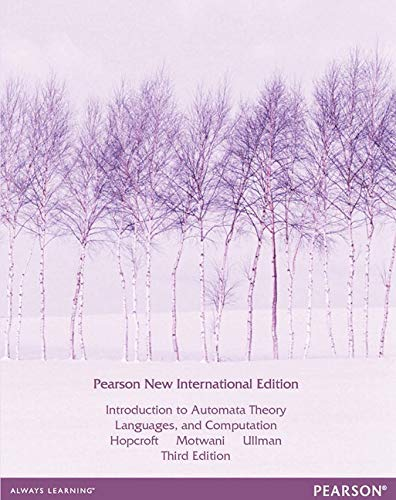 Introduction to Automata Theory, Languages, and Computation: Pearson New International Edition de Pearson Education Limited
