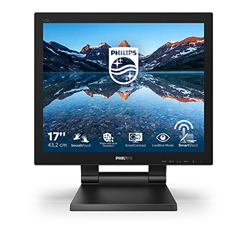 "Philips 172B9T - Monitor Táctil para PC de 17"" FHD (Portátil, 1 ms, resolución 1280x1024, LowBlue Mode, VESA, Altavoces, HDMI, Displayport, USB) de Philips"