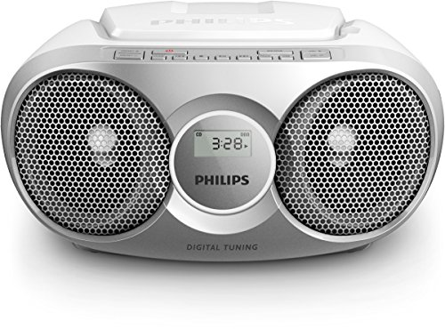 Philips AZ215S/12 - Reproductor de CD, Radio portátil, 3 W, Sintonizador Digital, Gris de Philips