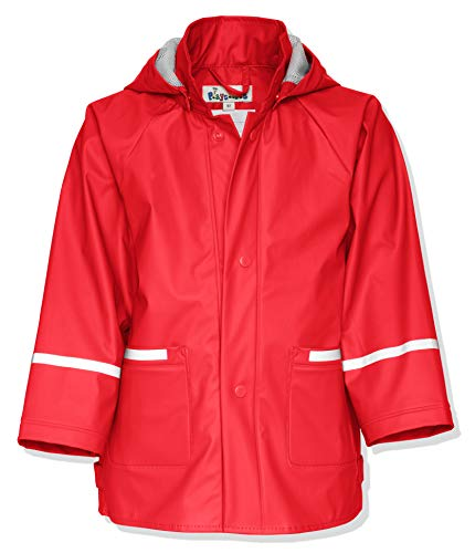 Playshoes Waterproof Raincoat, Chaqueta Impermeable Infantil, Rojo, 18 meses (86 cm) de Playshoes