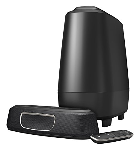 Polk Audio magnifi Mini Barra de Sonido + subwoofer inalámbrico Minicadena, Color Negro de Polk Audio