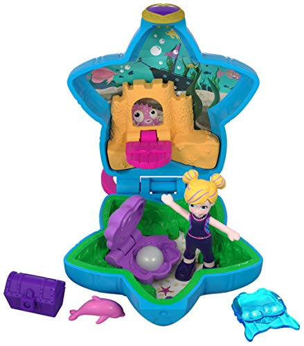 Polly Pocket Mini cofre acuario, muñeca con accesorios (Mattel FRY33) de Polly Pocket