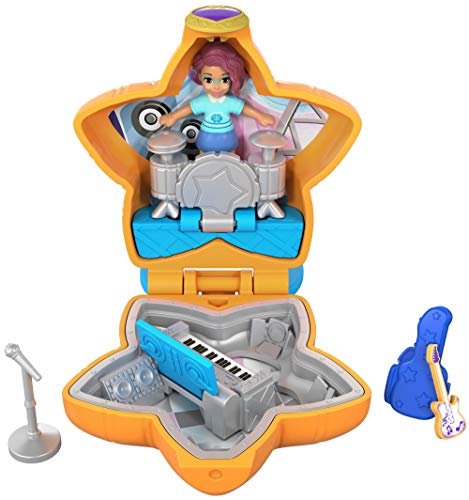Polly Pocket Mini cofre concierto de rock, muñeca con accesorios (Mattel FRY32) de Polly Pocket
