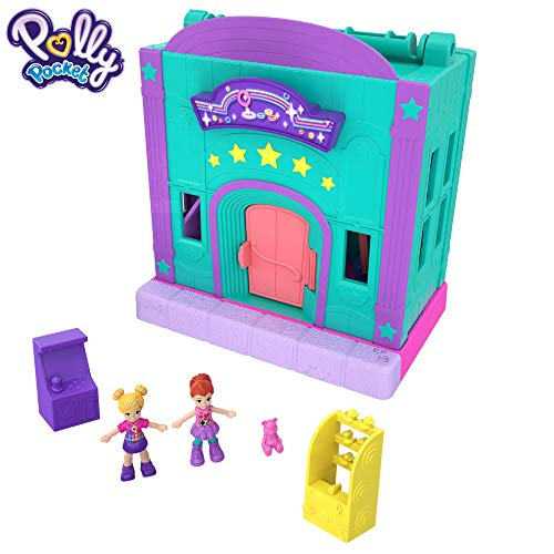 Polly Pocket - Salón Recreativo de Juguete, Mini Muñecas con Accesorios (Mattel GFP41) de Polly Pocket