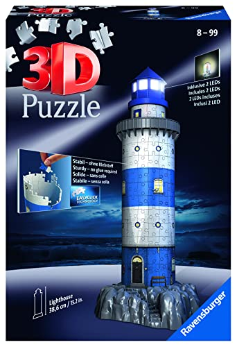 Ravensburger - 3D Puzzle Building Faro Night (12577 7) de Ravensburger
