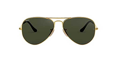 Ray-Ban Aviator Large Metal, Gafas de sol para Hombre, Dorado (Grey/Green), 55 de Ray-Ban