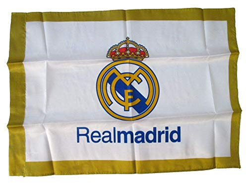 BANDERA OFICIAL REAL MADRID MODELO BLANCO 150X100CM de Real Madrid
