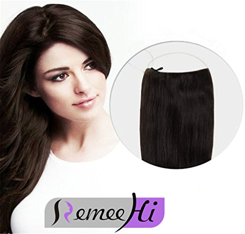Remeehi, extensiones de cabello Remy 100 % natural con hilo invisible, 80 g de RemeeHi