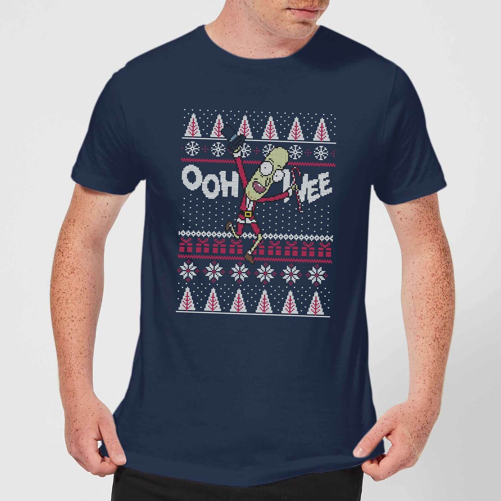 Rick and Morty Ooh Wee Men's Christmas T-Shirt - Navy - S - azul marino de Rick and Morty