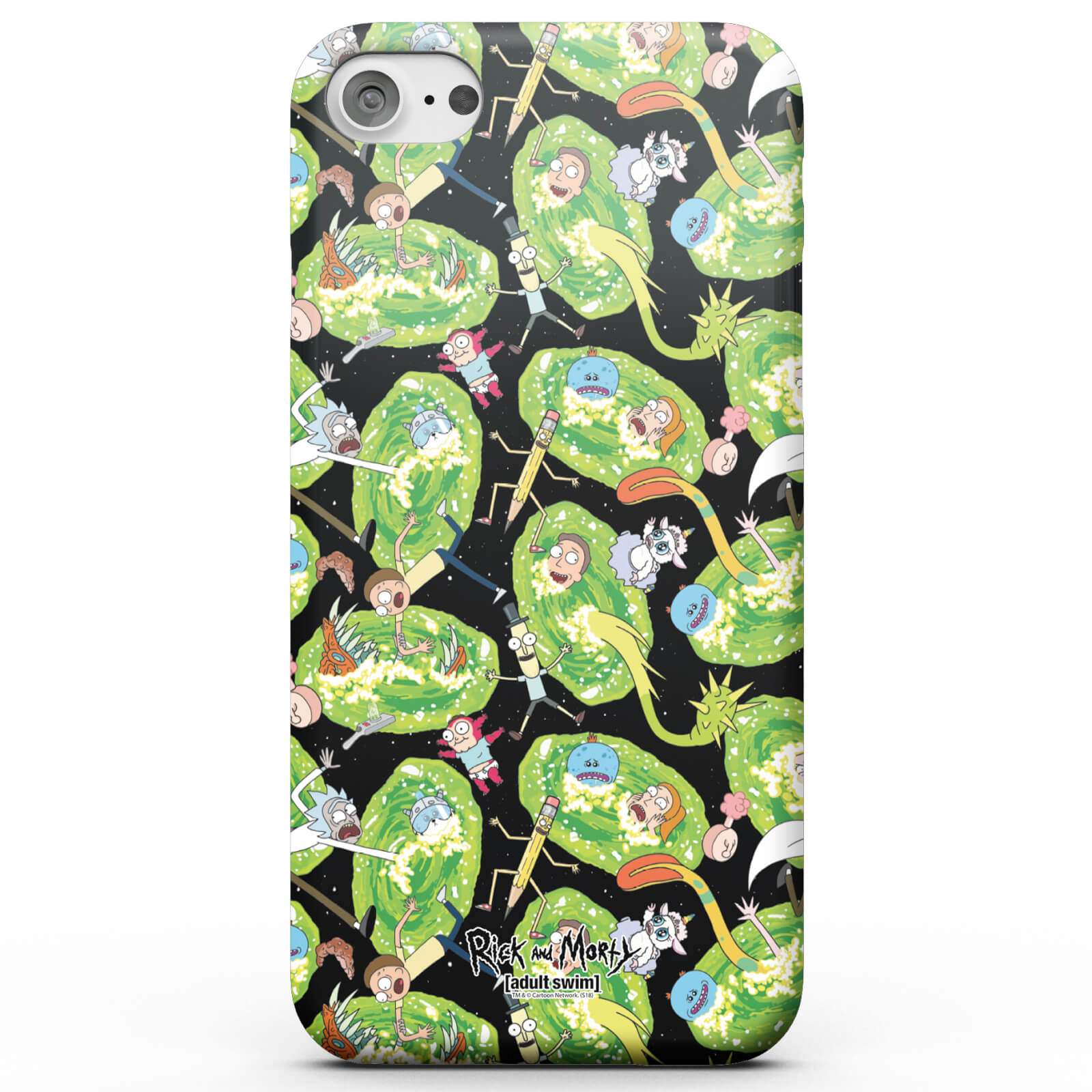 Funda Móvil Rick y Morty Portals Characters para iPhone y Android - iPhone 8 Plus - Carcasa doble capa - Mate de Rick and Morty