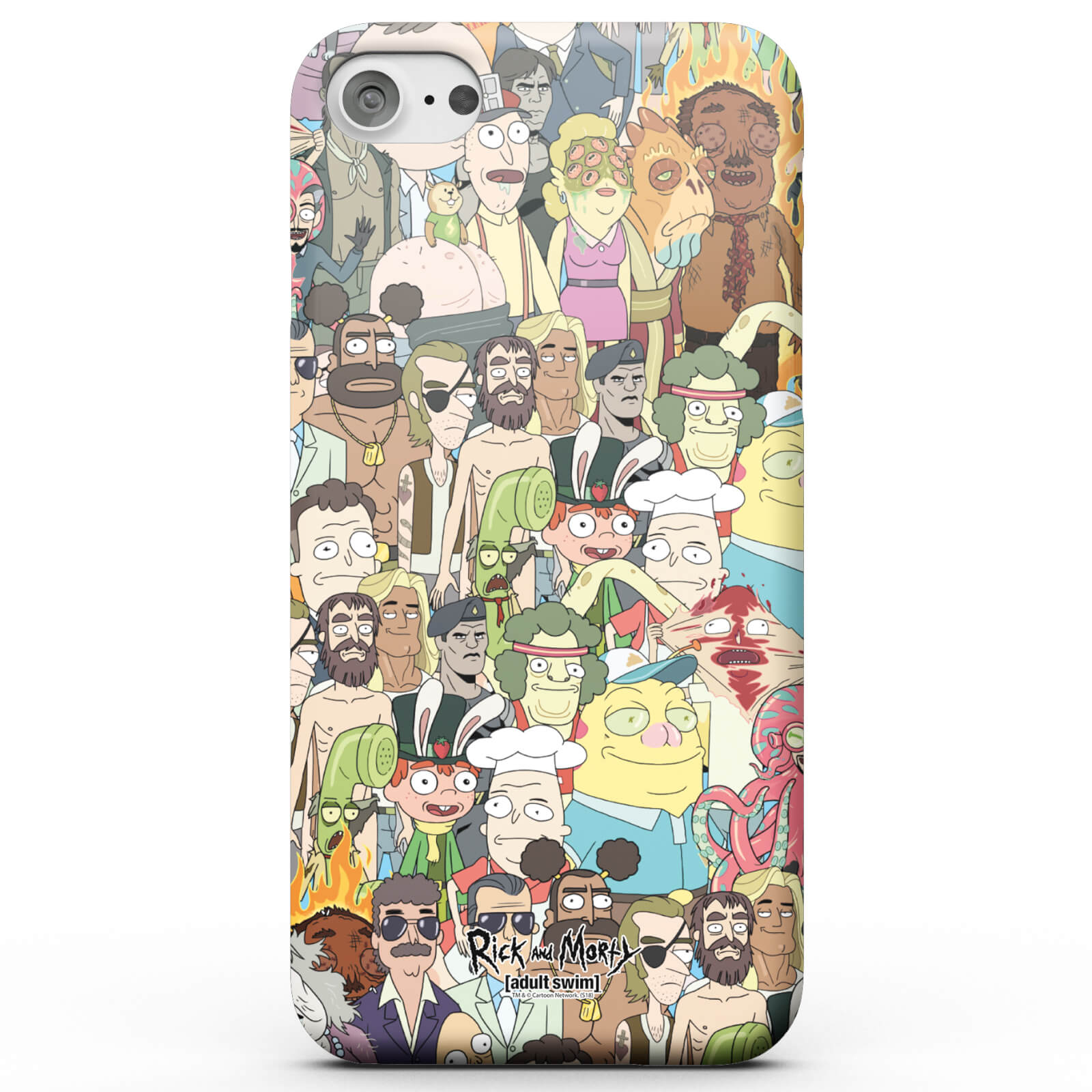 Funda Móvil Rick y Morty Interdimentional TV Characters para iPhone y Android - iPhone 8 Plus - Carcasa rígida - Mate de Rick and Morty